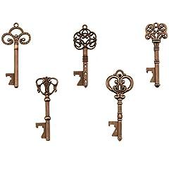 Idea Regalo - Apribottiglie chiave - Assortiti chiavi Vintage Skeleton, bomboniere (confezione da 25, rame)