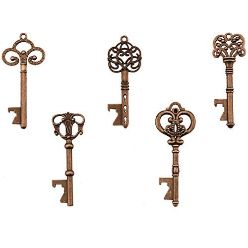 Schlüssel Flaschenöffner - sortierte Vintage Skeleton Keys, Hochzeitsfest Gefälligkeiten (25er Pack, Kupfer)