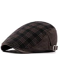 Gisdanchz Invierno Gorra para Hombre Mujer. Casual Mode Boina Irlandesa  Gatsby Algodón Sombrero 826c9735346