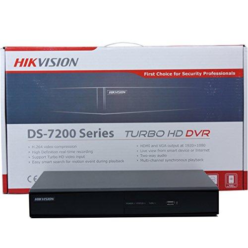 Hikvision DS-7204HGHI-SH inglese britannico versione turbo HD 4CH DVR TVI Nero