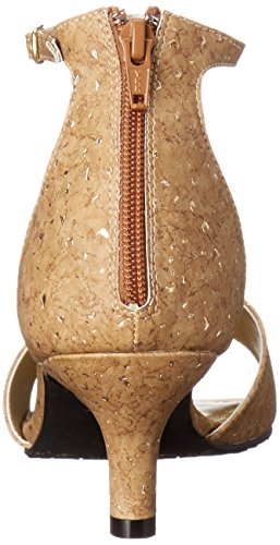 Stile Soft di Hush Puppies Madalyn Dress Sandal Cork Metallic