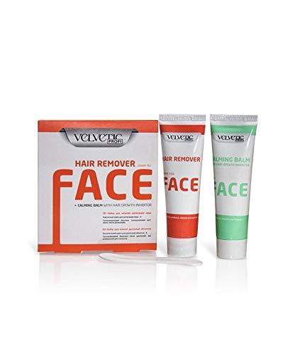 Velvetic Profi Haarentfernungscreme-Set für das Gesicht mit Aloe Vera-Extrakte !
