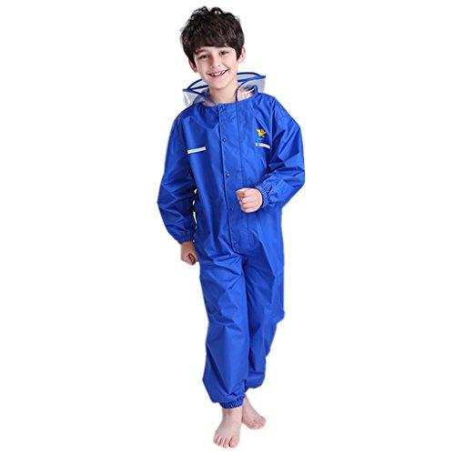 Combinaison de Pluie Enfant Vestes Coupe-Pluie Randonnée Garçon Veste et Manteau Imperméable Packasuit
