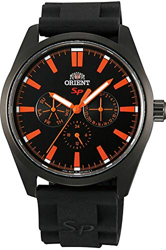 Orient Mens Analogue Quartz Watch with Rubber Strap FUX00002B0
