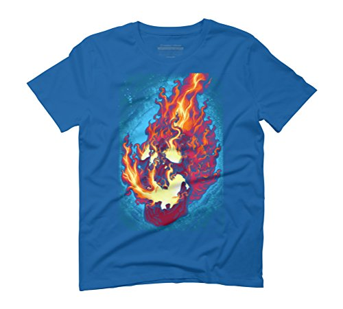 Trance Men's Graphic T-Shirt - Design By Humans Royal Blue