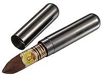 Visol Products Delta 1-Cigar Gunmetal Finish Stainless Steel Cigar Tube
