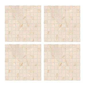 F Fityle 4er-Set 3D Mosaik Steinoptik Fototapete Wandbild Wandtapete Stein Tapete Wand Dekoration für Wohnzimmer Küche Bad - G
