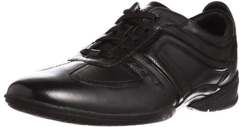 Clarks Flux Spring, Baskets mode homme - Noir (Black Leather),