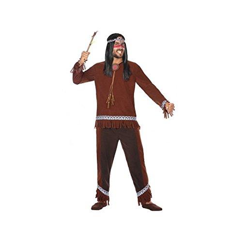 Atosa-54071 Disfraz Indio, Color marrón, XL (54071