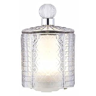 ATHENA Glass Aroma Diffuser with Mood Light - Ultrasonic, Aromatherapy, Ioniser - Grey Tint