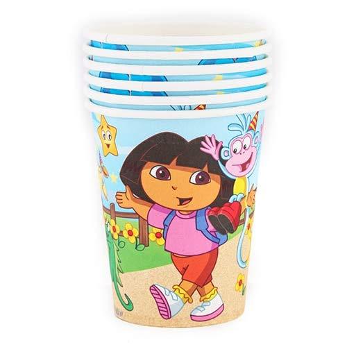 Großhandel Dora Thema Pappbecher/Platte / Kappe Party Dekoration Baby Alles Gute Zum Geburtstag Hochzeit Ereignis Partei Liefert Für Kinder, Cup 6 Stück