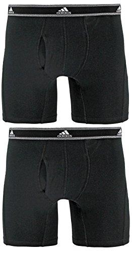 adidas Herren 's Relaxed Performance Stretch Baumwolle Boxer Brief Underwear (2Pack) Größe L - Boxer Briefs-pack Leistung
