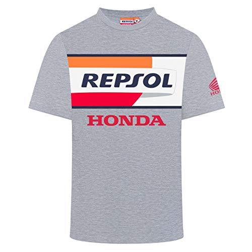 REPSOL RACING 2019 MotoGP - Maglietta da Uomo con Logo Grande, Taglia S-XXL, Evelina, Mens (S) 98cm/39 inch Chest