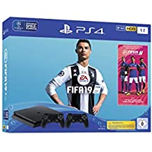 Sony PlayStation 4 Slim 1TB + 2x DUALSHOCK 4 + FIFA 19 1000GB Wi-Fi Nero