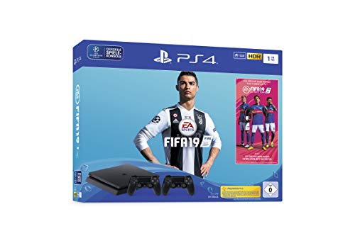 Sony PlayStation 4 Slim 1TB + 2x DUALSHOCK 4 + FIFA 19