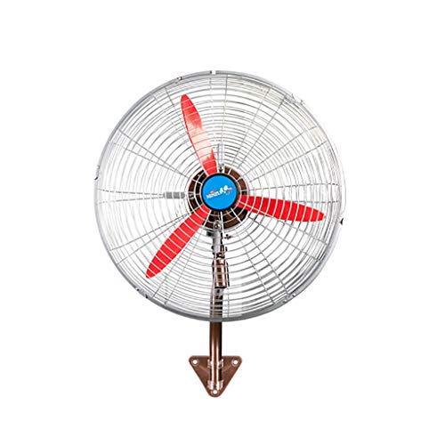 Hohe Geschwindigkeit Wandmontierter Lüfter /An der Wand montiert Metal Fan / Industriell Vertikale Horn Fan mit 3 roten Klingen- 3 Geschwindigkeitswicklung einstellbar, 3 m Stromkabel,für Gewerbe Wo -