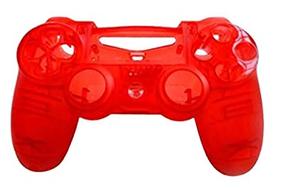 JYR Wireless Handle Hard Shell Transparent Color Shell Case for PS4 Game Controller - Transparent - red from JYR