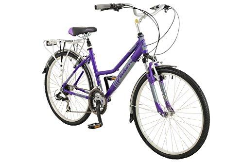 41WAVqHRutL - Falcon Women's Voyager Hybrid Bike-Purple, 12 Years
