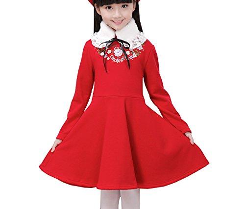 Ahatech Mädchen Prinzessin A-Line Warm (Rapunzel Teenager Kostüm)