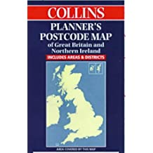 Collins Planners' Postcode Map of Great Britain and Northern Ireland