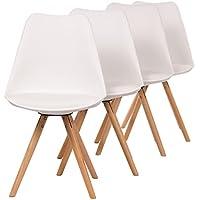 makika chaise de design sige de bureau salle manger salon style rembourre pieds bois moderne - Siege Scandinave