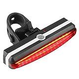 Luz de ciclismo de bicicleta de montaña recargable a prueba de agua con luz trasera LED USB recargable