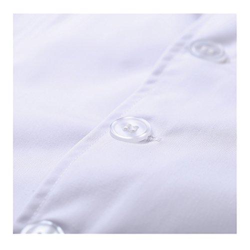shane&shaina Kurzarm kurze abschnitt kittel ärzte krankenschwestern bekleidung arbeitskleidung arbeit (damen, XL) - 4