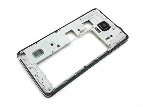Goliton® Handy Voll Gehäuse Tasche Mittelrahmen Abdeckung Ersatzteil für Samsung Galaxy Note 4 N9108V - Schwarz