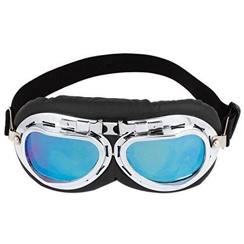 Preisvergleich Produktbild sourcingmap® Gummiband blau Objektiv Vollformat Ski Motorrad klappbar Brille Glasses de