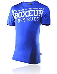 BOXEUR DES RUES Serie Fight Activewear, T-Shirt Uomo, Royal, L