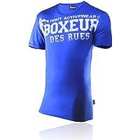 BOXEUR DES RUES Serie Fight Activewear, T-Shirt Uomo, Royal, L