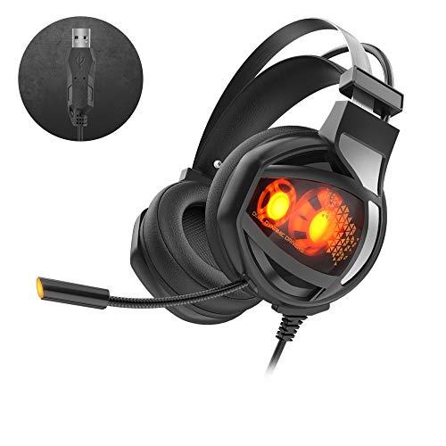 LIUQIAN Kopfhörer Auf dem Kopf montiertes 7.1-Quad-Core-Internet-Café-Gaming-Headset mit Zwei Aktionen. Live-Chicken-Headsets