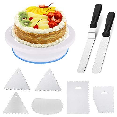 Tortenplatte Mit Winkelpalette Winkelpaletten / Tortenmesser / Offset Icing Spatula Kuchen Tortenmesser aus Edelstahl zum Backen und für Fondant