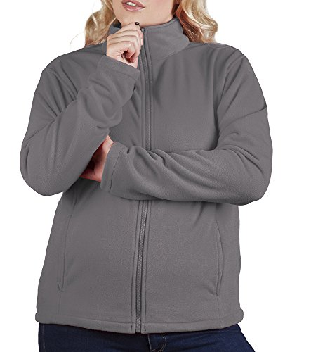 Leichte Fleece Jacke C+ Damen Stahlgrau