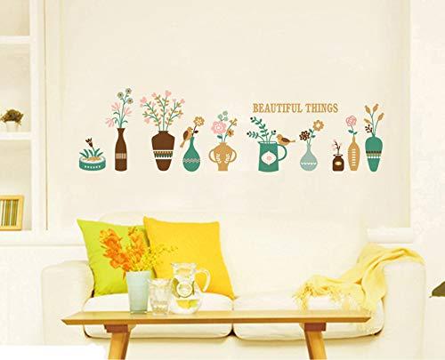 Wandaufkleber ZOZOSO Vase Baseboard Korea Wandaufkleber Kreative Diy Dekoration Wandaufkleber