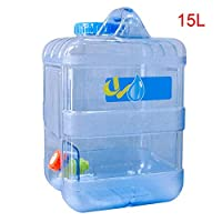 Sliveal Portable Square Camping Water Container With Tap Wash Carrier Equipment Buckets Outdoor Travel Bucket Car Water Tank Emergency Water Bag For Camping Hiking Climbing 15L