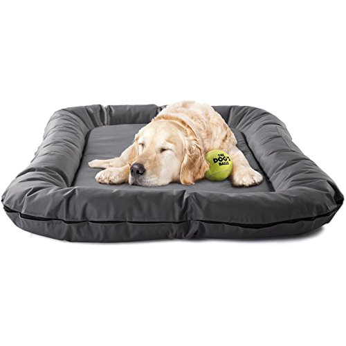 The Dog's Bed, Premium S/M/L/XL Waterproof Dog & Puppy Beds in Many Colours, Finest Quality Durable Oxford Material & Designed for Doggie Comfort, True Size Extra Large 120 x 85cm & 3.4kg, Machine Washable Cover, Comfortable Bed & Boarding Kennel Favourite, Happy Hound = Happy Home:)