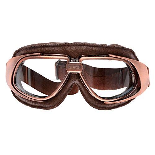 Retro Vintage Sonnenbrille Schutzbrille Pilot Motorrad Sport für Harley - Clear Glas