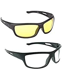 ELLIGATOR Driving at Day and Night Fishing Outdoor Anti Glare Unisex Sunglasses (64 mm, Yellow and White)