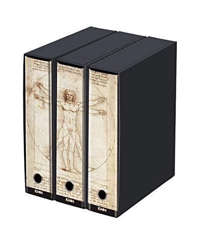 Set 3 raccoglitore kaos- Leonardo da Vinci- cm35x29x8