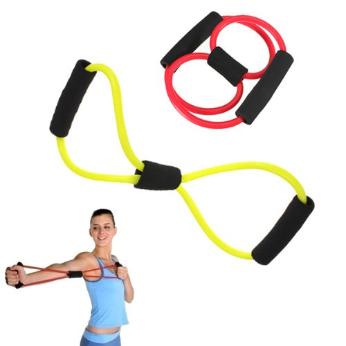 BuyBox® Total Body Finess Stretch Body Toning and Stretching Travel Exercise tube 8 type resistance band exercise tube yoga pull up equipment Yoga Fitness For Men and Women  available at amazon for Rs.199