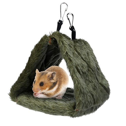 jacky-bird-hammock-hanging-cave-cage-plush-warm-hut-tent-bed-bunk-parrot-toy-green