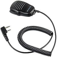 Retevis Micrófono de Mano con Bóton PTT Micro-Altavoz 2 Pines Compatible con Walkie Talkie RT21 RT22 RT24 RT27 RT5R RT5 RT1 RT3 RT7 H777 Kenwood PUXING WOUXUN TYT HYT BAOFENG POFUNG (1 Pacs)