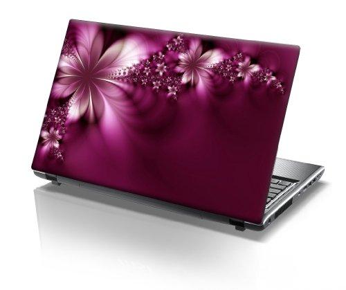 er Skin Vinyl Aufkleber mit bunten Mustern für 15 Zoll 15,6 Zoll (38cm x 25,5cm) Laptop Skin Blumen, rosa ()