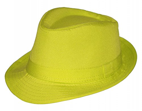 Foxxeo 35262   Sommer Fedora Hut Panama Strand Gangster Party, Farbe: ()