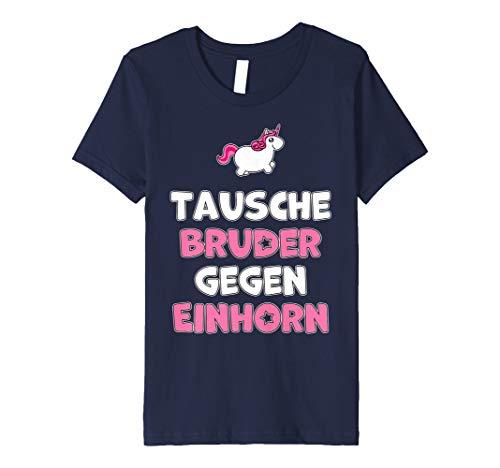Kinder Tausche Bruder gegen Einhorn Liebhaber T-Shirt für Reiterin