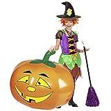 NET TOYS Gigante Calabaza Inflable | Aprox. 110 x 75 cm en Naranja | Escalofriante decoración para Fiesta de Halloween Cara de Calabaza | Ideal para Fiestas de Terror y Fiestas terroríficas