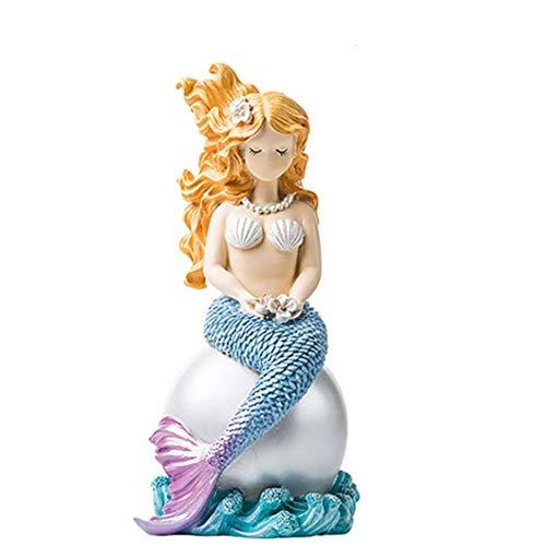 FengHe Große meerjungfrau Ornamente kleine frische Nordic Cartoon Puppe Desktop schmuck Ornamente kreative Wohnzimmer Dekoration Hause schaukel piuttosto -