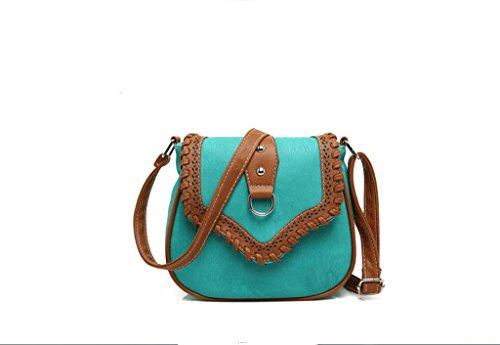 Borsa Minimalista spalla, borse da donna, eolici di piccola profumata borse casual, pacchetto diagonale della moda Lake Blue