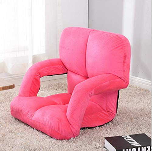 MMWYC Chaise Lounges Faltbarer Lazy Floor Chair Sofa Liege Bett mit Armlehnen /21.6x15x20.5inches (Color : Pink) (Chaise Lounge-sofa-bett)
